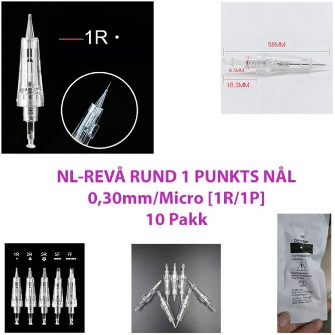 Bilde av NL-REVÅ RUND 1 PUNKTS NÅL 0,3mm/Micro [1R/1P] (10