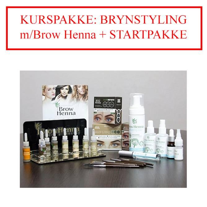 Bilde av KURSPAKKE: BRYNSTYLING m/Brow Henna + STARTPAKKE