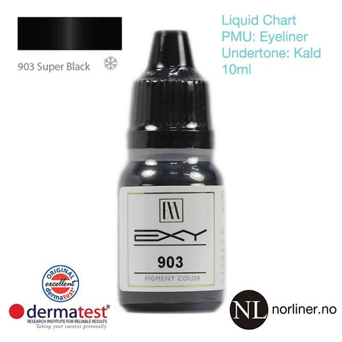Bilde av MT-EXY #903 Super Black til PMU Eyeliner [Liquid