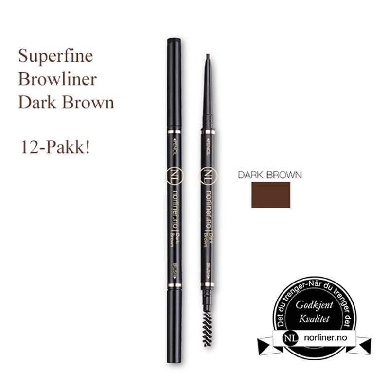 Bilde av NL-Superfine Browliner Dark Brown 12-Pakk!