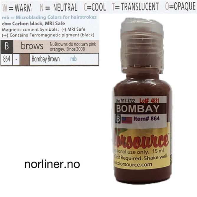 Bilde av KOLORSOURCE #864 Bombay Brown til Microblading