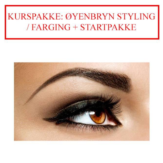 Bilde av KURSPAKKE: ØYENBRYN STYLING / FARGING +