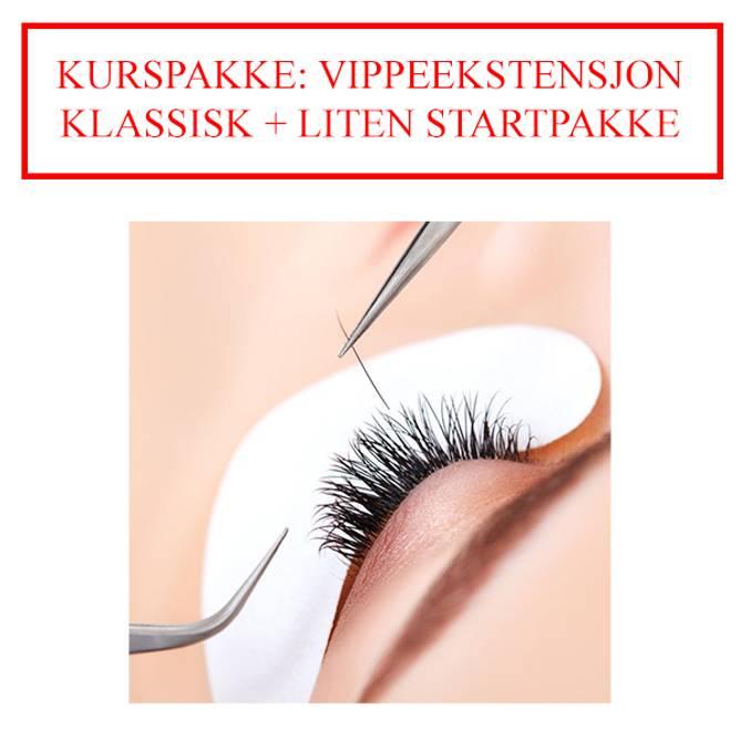 Bilde av KURSPAKKE: VIPPEEKSTENSJON KLASSISK + LITEN